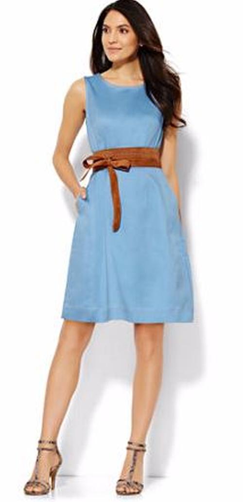 Stretch Denim Sheath Dress by New York & Company in American Pie