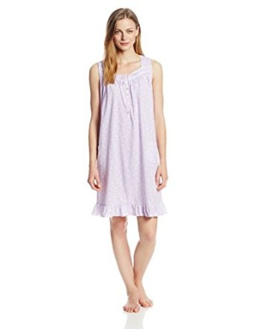 Women's Printed Sleeveless Short Nightgown by Aria in The Other Woman
