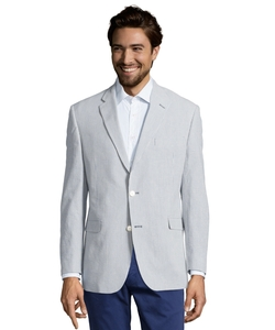 Stripe Seersucker Two-Button Blazer by Tommy Hilfiger in The Blacklist