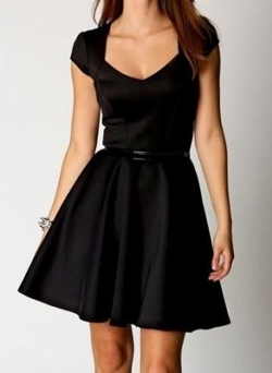 Sweetheart Neck Skater Dress by Bella Dress in Crazy, Stupid, Love.