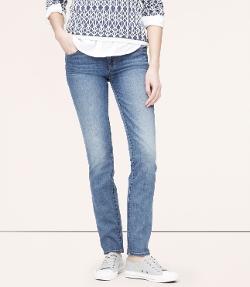 Modern Straight Leg Jeans by Loft in Tomorrowland