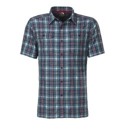 Short Sleeve Pine Knot Woven Flannel Shirt Storm Blue by The North Face in Hall Pass