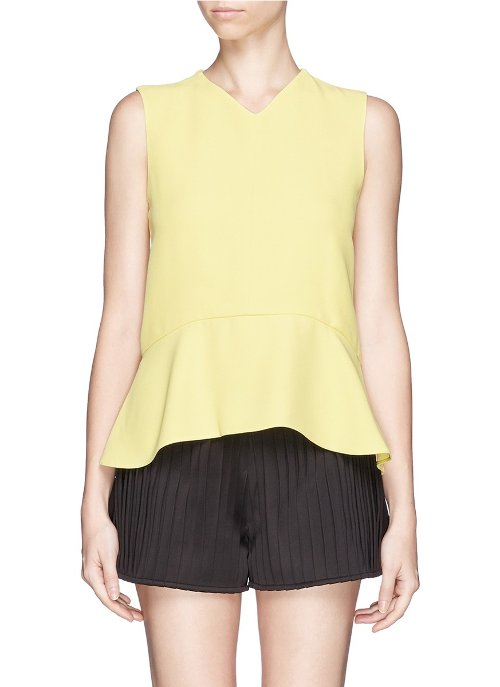 Crepe Sable Peplum Top by Chloé in The Other Woman