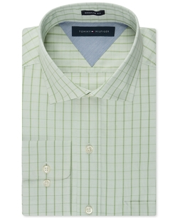 Easy Care Tonal Check Dress Shirt by Tommy Hilfiger in Modern Family