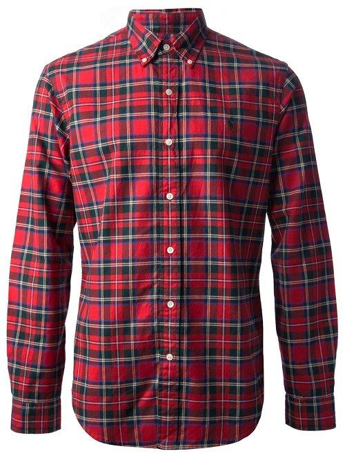Plaid Button Down Shirt by Polo Ralph Lauren in Begin Again