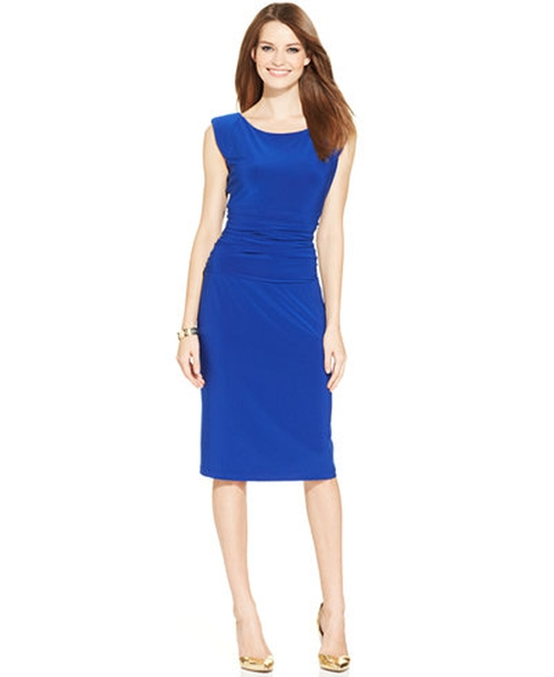 Cap-Sleeve Ruched Sheath Dress by Nine West in Mistresses - Season 4 Episode 4