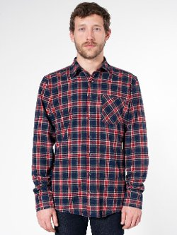 Tartan Plaid Flannel Shirt by American Apparel in McFarland, USA