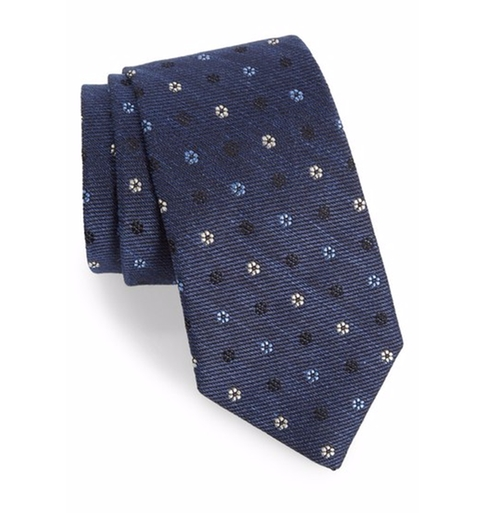 Medallion Silk Blend Tie by Gitman in The Accountant