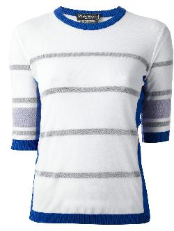 striped sweater by SALVATORE FERRAGAMO in Blended