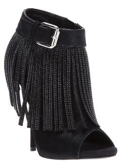 Fringed Buckled Bootie by Giuseppe Zanotti Design in Beyond the Lights
