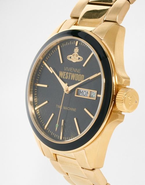 Gold Metal Watch by Vivienne Westwood in Ballers