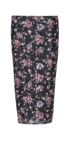 Floral Lace Midi Skirt Ladies by Juliet's Kiss in Boyhood