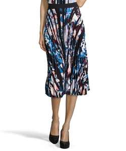 Floral Printed Georgette 'Caident' Pleated Midi Skirt by Elizabeth & James in Pretty Little Liars