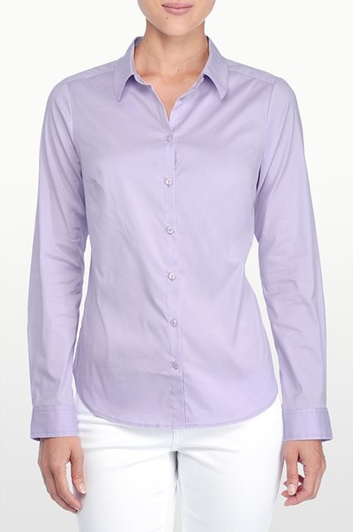 Fit Solution Button Front Shirt by NYDJ in Pretty Little Liars - Season 6 Episode 5