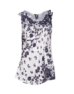 Floral Print Top by Tricot Chic in Black-ish