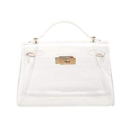 Women's Vinyl Clear Jelly Handbag by Lam Gallery in Scream Queens