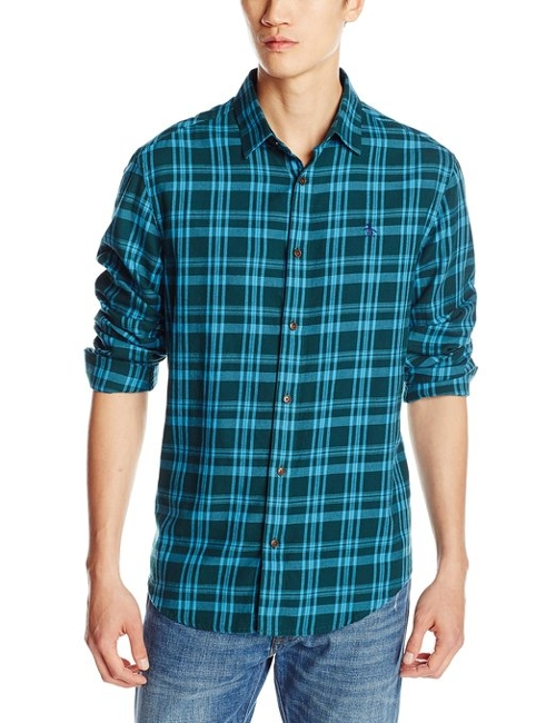 Modern Plaid Long-Sleeve Button-Down Shirt by Original Penguin in Sinister 2