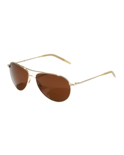 Benedict Basic Polarized Aviator Sunglasses by Oliver Peoples in Black Mass