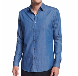 Zack Chambray Button-Down Shirt by Theory in Jane the Virgin
