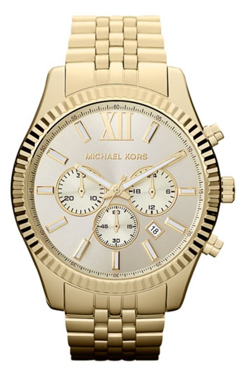 Large Lexington Chronograph Bracelet Watch by MICHAEL Michael Kors in The Secret Life of Walter Mitty