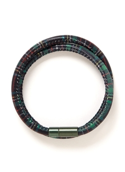 Tartan Plaid Double Wrap Bracelet by Tateossian in Dope