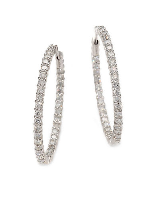 Diamond And White Gold Hoop Earrings by Roberto Coin in Mariah's World - Season 1 Preview