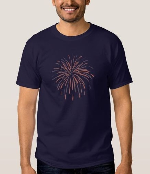 Fireworks T-Shirt by Zazzle in Crazy, Stupid, Love.
