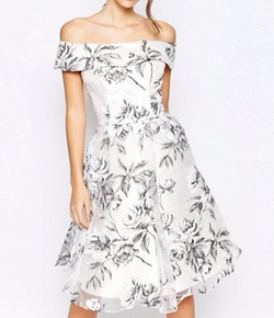 Off Shoulder Midi Dress by Chi Chi London in The Good Place