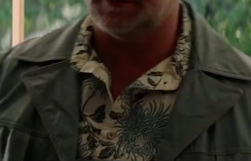 Custom Made Tropical Printed Button Shirt by Anto Beverly Hills in The Nice Guys