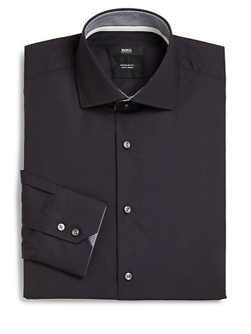 Solid Dress Shirt by Boss Hugo Boss in Begin Again