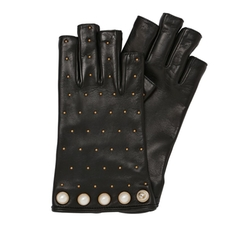 Studded Cut-Off Leather Gloves by Gucci in Atomic Blonde