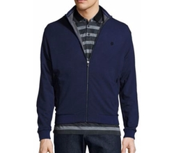 Stretch Cotton-Modal Zip Jacket by Z Zegna in Supergirl
