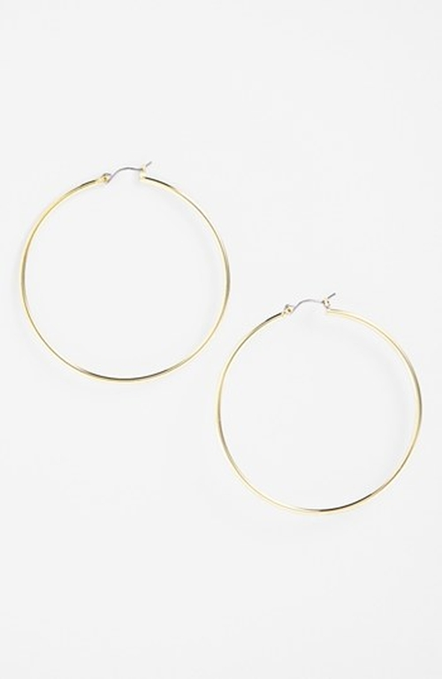 Large Hoop Earrings by Lauren Ralph Lauren in Jem and the Holograms