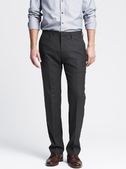 Charcoal Wool Dress Pants by Banana Republic in (500) Days of Summer