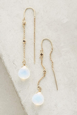 Elemental Threaded Earrings by Anthropologie in Arrow