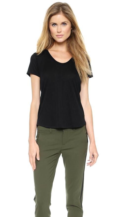V Neck Shirttail Tee by Vince in Beyond the Lights