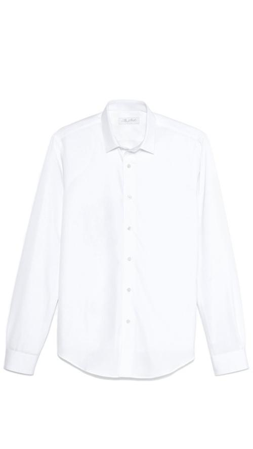 Square Collar Poplin Shirt by Mr. Start in John Wick