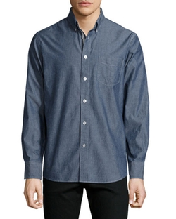 Standard Issue Chambray Button-Down Shirt by Rag & Bone in Mad Dogs