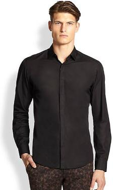 Covered Placket Sportshirt by Salvatore Ferragamo in Mortdecai