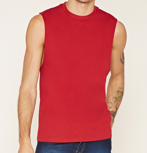 Raw-Cut Muscle Tee Shirt by Forever 21 in The Infiltrator