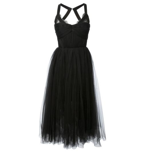 Black Maysa Midi Dress by Maria Lucia Hohan in Pretty Little Liars - Season 7 Preview