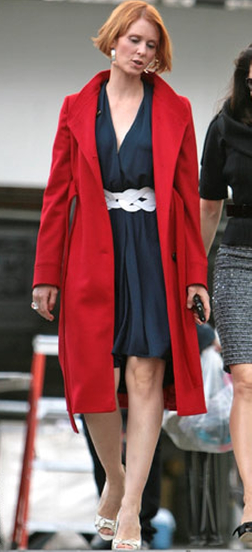 Red Trench Coat by Valentino in Sex and the City