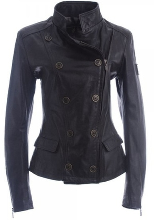 Double Breasted Zip Leather Jacket by Belstaff in The Twilight Saga: Breaking Dawn - Part 2