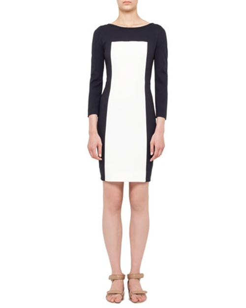 Timarcha Short-Sleeve Colorblock Dress by Roland Mouret	 in The Other Woman
