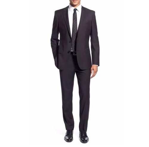 'Huge/Genius' Trim Fit Solid Wool Suit by Boss in Suits - Season 5 Episode 16
