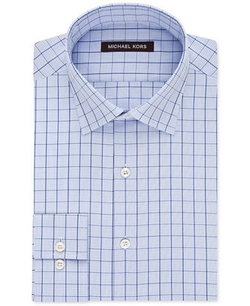 Blue Pearl Grid Check Dress Shirt by Michael Michael Kors in The Mindy Project