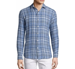 Plaid Linen Long-Sleeve Sport Shirt by Culturata in Spider-Man: Homecoming