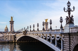 Paris, France by Pont Alexandre III in Me Before You