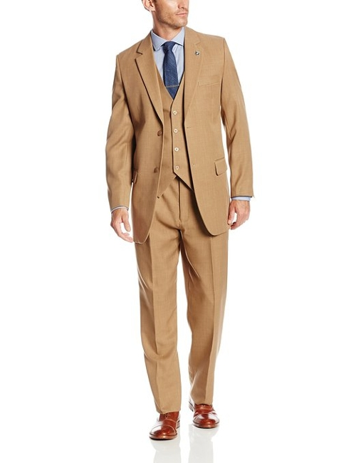 Suny Vested Three Piece Suit by Stacy Adams in The Second Best Exotic Marigold Hotel
