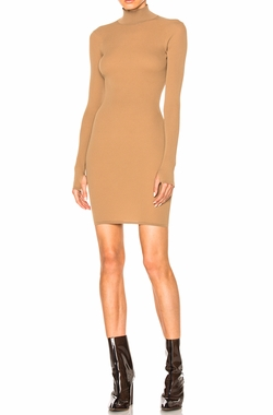 Season 3 High Neck Mini Dress by Yeezy in Keeping Up With The Kardashians